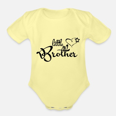 Brother little Brother - Organic Short-Sleeved Baby Bodysuit