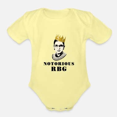 Notorious RBG - Organic Short-Sleeved Baby Bodysuit