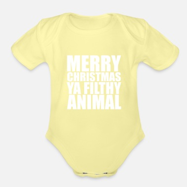 Christmas Merry Christmas - Organic Short-Sleeved Baby Bodysuit