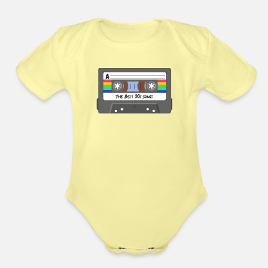 The death of the cassette tape - Organic Short-Sleeved Baby Bodysuit