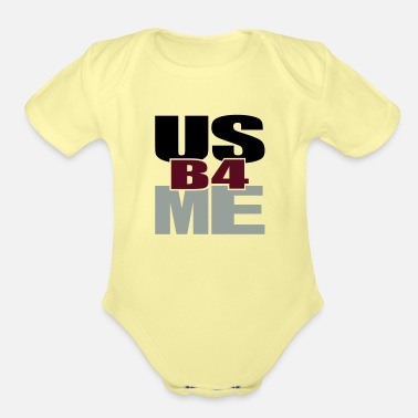 Tlc Us Before Me - Organic Short-Sleeved Baby Bodysuit
