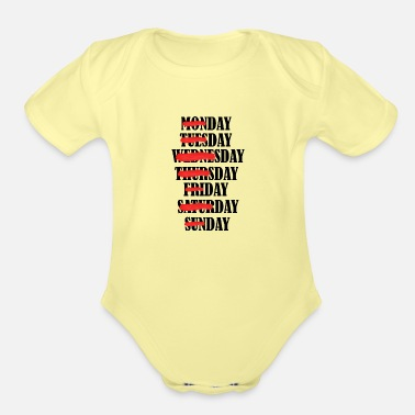 Days Of The Week Days of the Week - Organic Short-Sleeved Baby Bodysuit