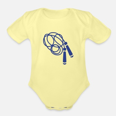 Rope Jump Rope - Organic Short-Sleeved Baby Bodysuit