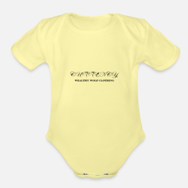 Currency currency cursive - Organic Short-Sleeved Baby Bodysuit