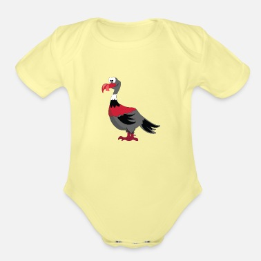Turkey Cartoon Turkey Vulture - Organic Short-Sleeved Baby Bodysuit