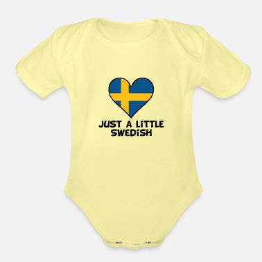 Just Just A Little Swedish - Organic Short-Sleeved Baby Bodysuit