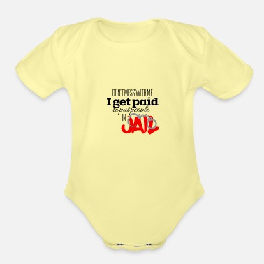 Jail Jail - Organic Short-Sleeved Baby Bodysuit