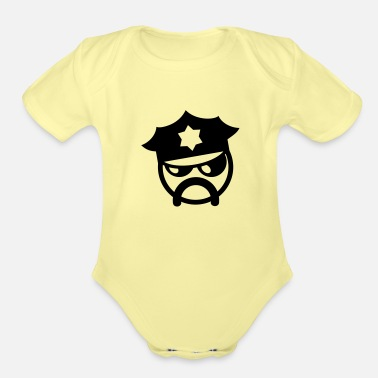 Cop cop - Organic Short-Sleeved Baby Bodysuit