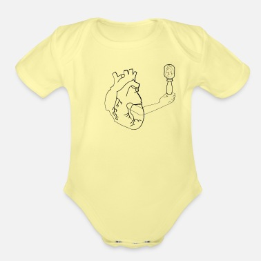 Wound Wounded Heart - Organic Short-Sleeved Baby Bodysuit