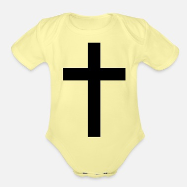 Tradition Traditional Cross - Organic Short-Sleeved Baby Bodysuit