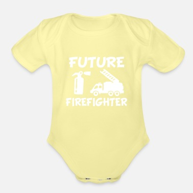 Fire Future Fire fighter baby shirt - Organic Short-Sleeved Baby Bodysuit