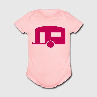 Mobile home - Short Sleeve Baby Bodysuit
