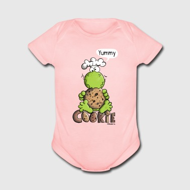 Yummy frog love cookies - Cookie - Gift - Organic Short Sleeve Baby Bodysuit