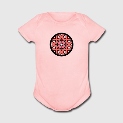 logo spiritual circle - Short Sleeve Baby Bodysuit