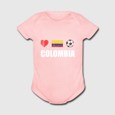 Colombia Football Colombian Soccer T-shirt - Short Sleeve Baby Bodysuit