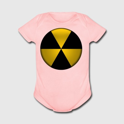 Radioactive Button - Short Sleeve Baby Bodysuit