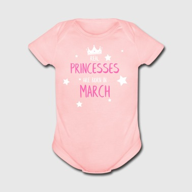 geburtsmonat march - Short Sleeve Baby Bodysuit