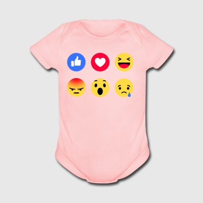Emoticon Icon Funny - Short Sleeve Baby Bodysuit