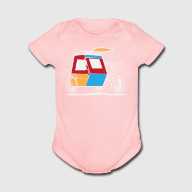 Philippines Padyak Tricycle - Short Sleeve Baby Bodysuit