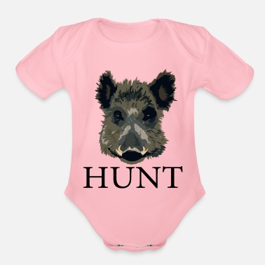Hunting Hog Hunt - Organic Short-Sleeved Baby Bodysuit