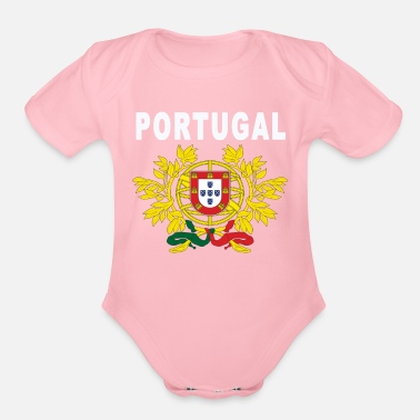 Portugal Portugal grand seal design - Organic Short Sleeve Baby Bodysuit