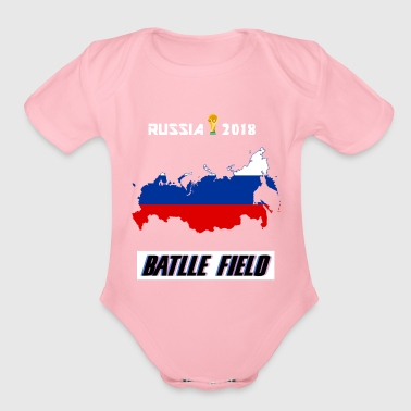 world cup champion tee - Russia 2018 - Organic Short Sleeve Baby Bodysuit
