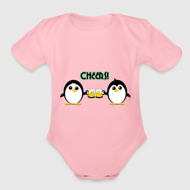 Cheers - Organic Short Sleeve Baby Bodysuit