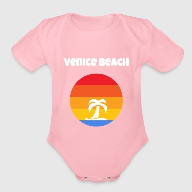 Venice Beach California - Organic Short Sleeve Baby Bodysuit