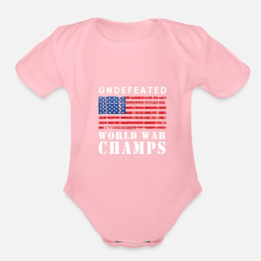 Undefeated Undefeated - Organic Short-Sleeved Baby Bodysuit