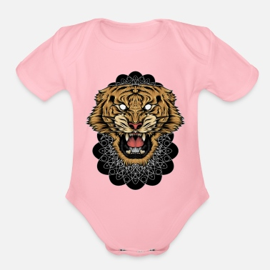 Junglecontest TIGER - Organic Short-Sleeved Baby Bodysuit