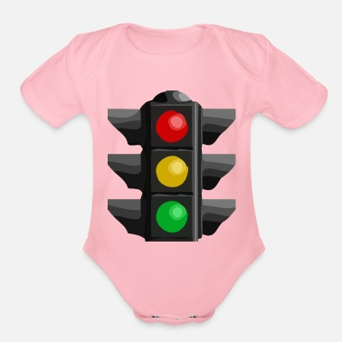 Traffic Traffic Light - Organic Short-Sleeved Baby Bodysuit