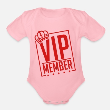 vip_member_by1 - Organic Short-Sleeved Baby Bodysuit