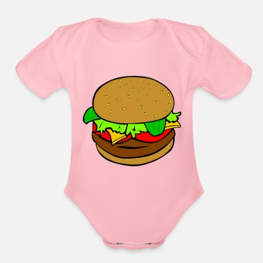 Kids Burger - Organic Short-Sleeved Baby Bodysuit