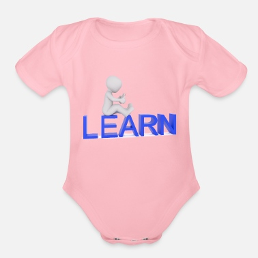Learn Learning - Organic Short-Sleeved Baby Bodysuit