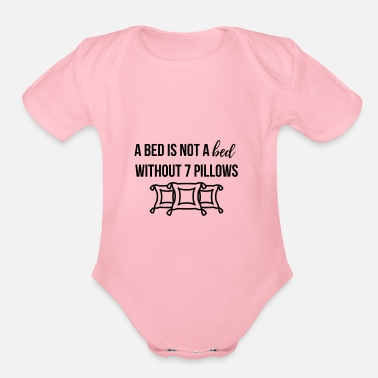 Bed A bed is not a bed - Organic Short Sleeve Baby Bodysuit