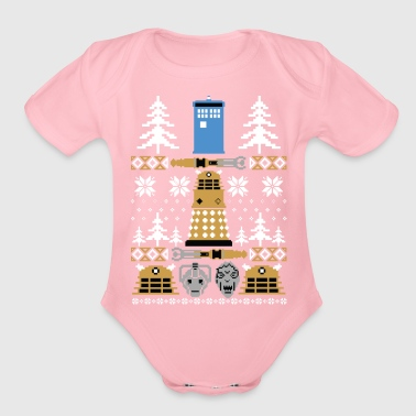 Doctor Who Ugly Sweater T-Shirt - Organic Short Sleeve Baby Bodysuit