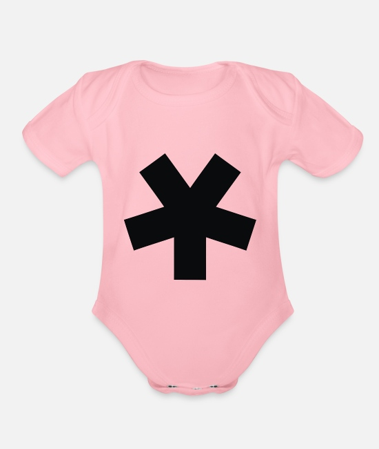Starry Sky Baby One Pieces - Minimalist Star - Organic Short-Sleeved Baby Bodysuit light pink
