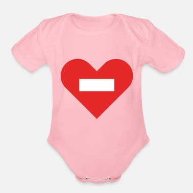 Cuore no entry heart - Organic Short-Sleeved Baby Bodysuit