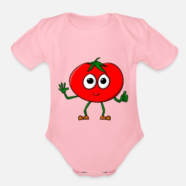 Smiling Tomato Tomato Comic - Organic Short-Sleeved Baby Bodysuit