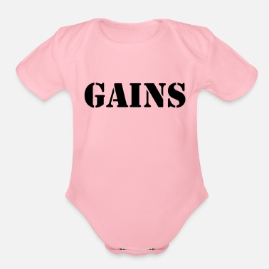 Gains Gains - Organic Short-Sleeved Baby Bodysuit