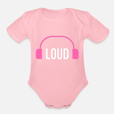 Loud loud - Organic Short Sleeve Baby Bodysuit