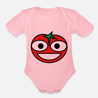 Smiling Tomato Happy Tomato - Organic Short-Sleeved Baby Bodysuit