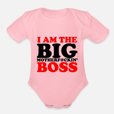 Boss im the boss New - Organic Short-Sleeved Baby Bodysuit
