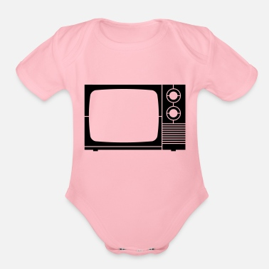 Tv tv - Organic Short-Sleeved Baby Bodysuit