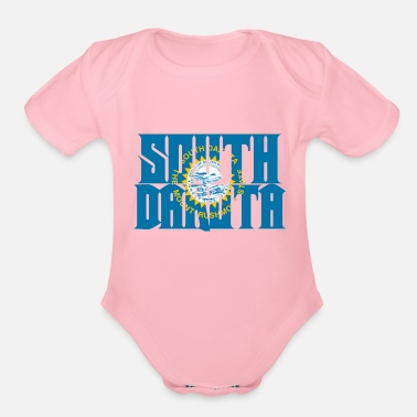 South Dakota South Dakota - Organic Short Sleeve Baby Bodysuit