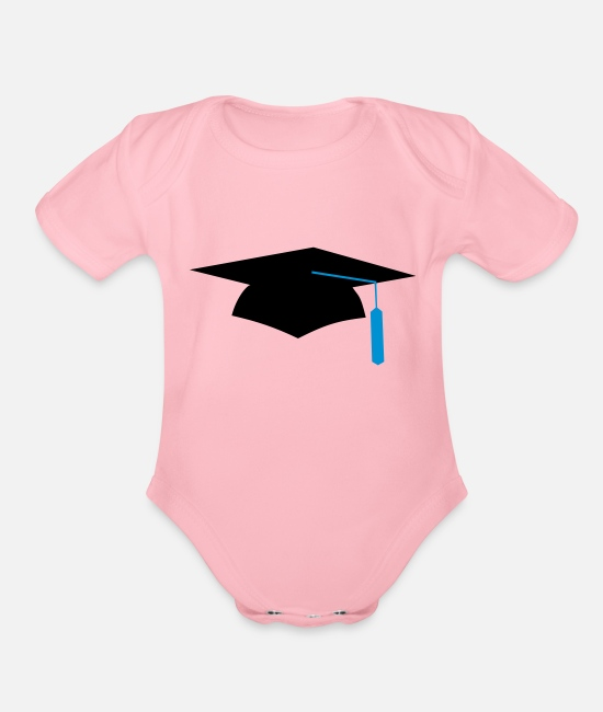High School Graduate Baby One Pieces - graduation - Organic Short-Sleeved Baby Bodysuit light pink
