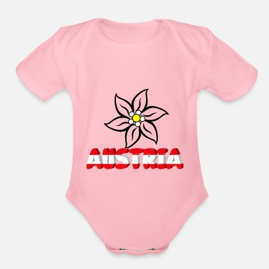 Edelweiss Austria with edelweiss - Organic Short Sleeve Baby Bodysuit