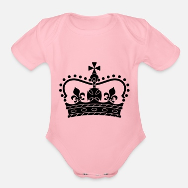 Form Crown, symbol, shape - Organic Short-Sleeved Baby Bodysuit