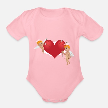 Cupido kisspng arrow cupid bow vector cupid and arrows 5a - Organic Short Sleeve Baby Bodysuit