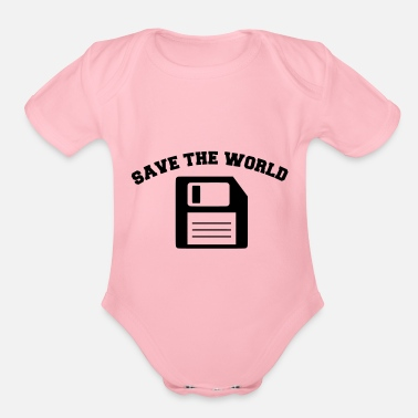 Save The World save the world - Organic Short-Sleeved Baby Bodysuit